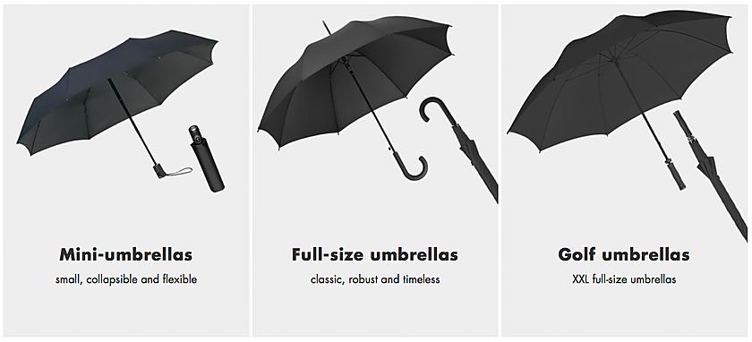 Doppler Horeca Sektörüne Golf şemsiyesi Fiberglas şemsiye