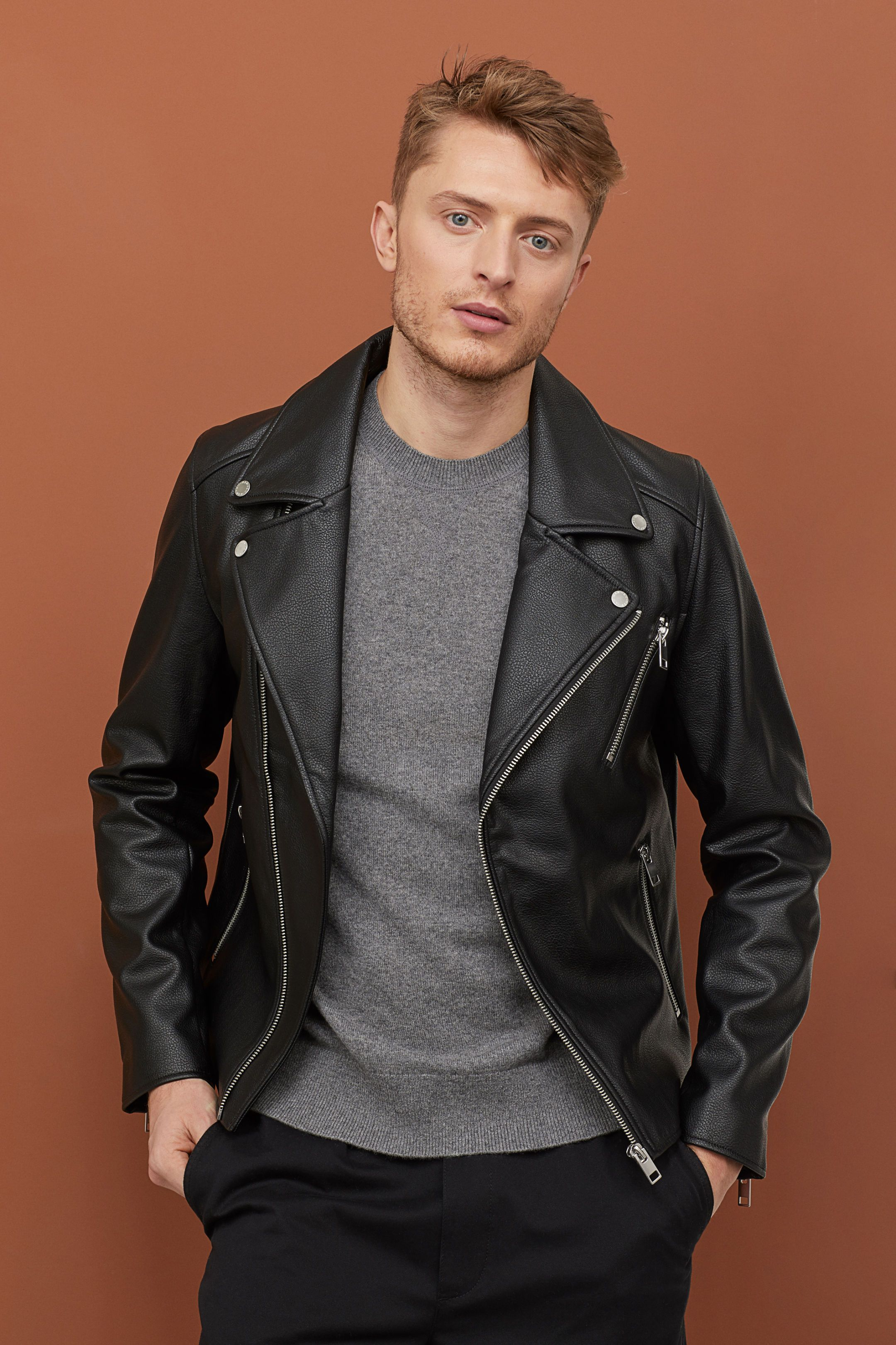 Biker Jacket Leather jacket men, Leather jacket outfit