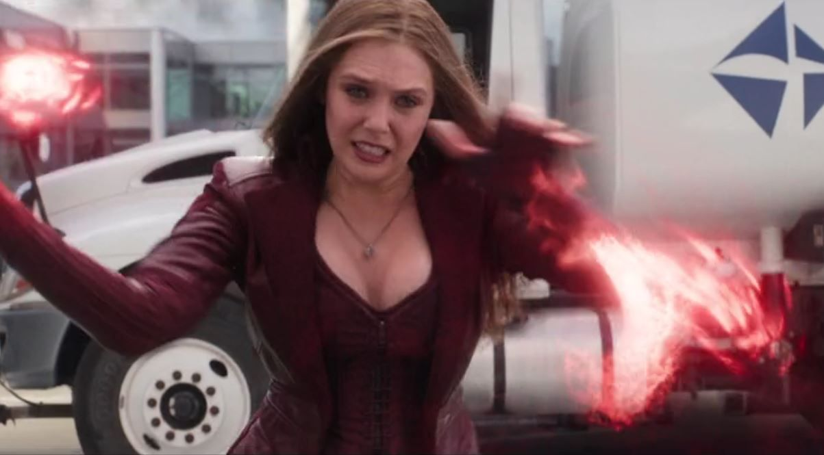 Elizabeth Olsen Scarlet Witch Captain America Civil War My Tribute To The Gravity Defying Charms Of Lizzie Olsen Feiticeira Escarlate Escarlate Vingadores
