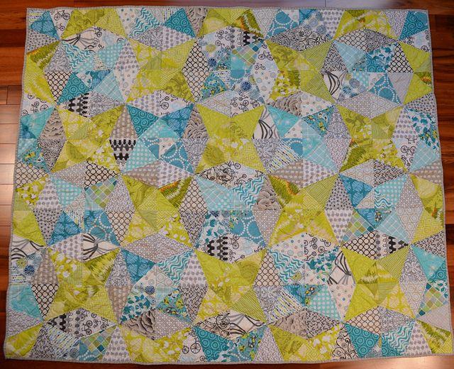 Kaleidoscope Quilt by shecanquilt, via Flickr