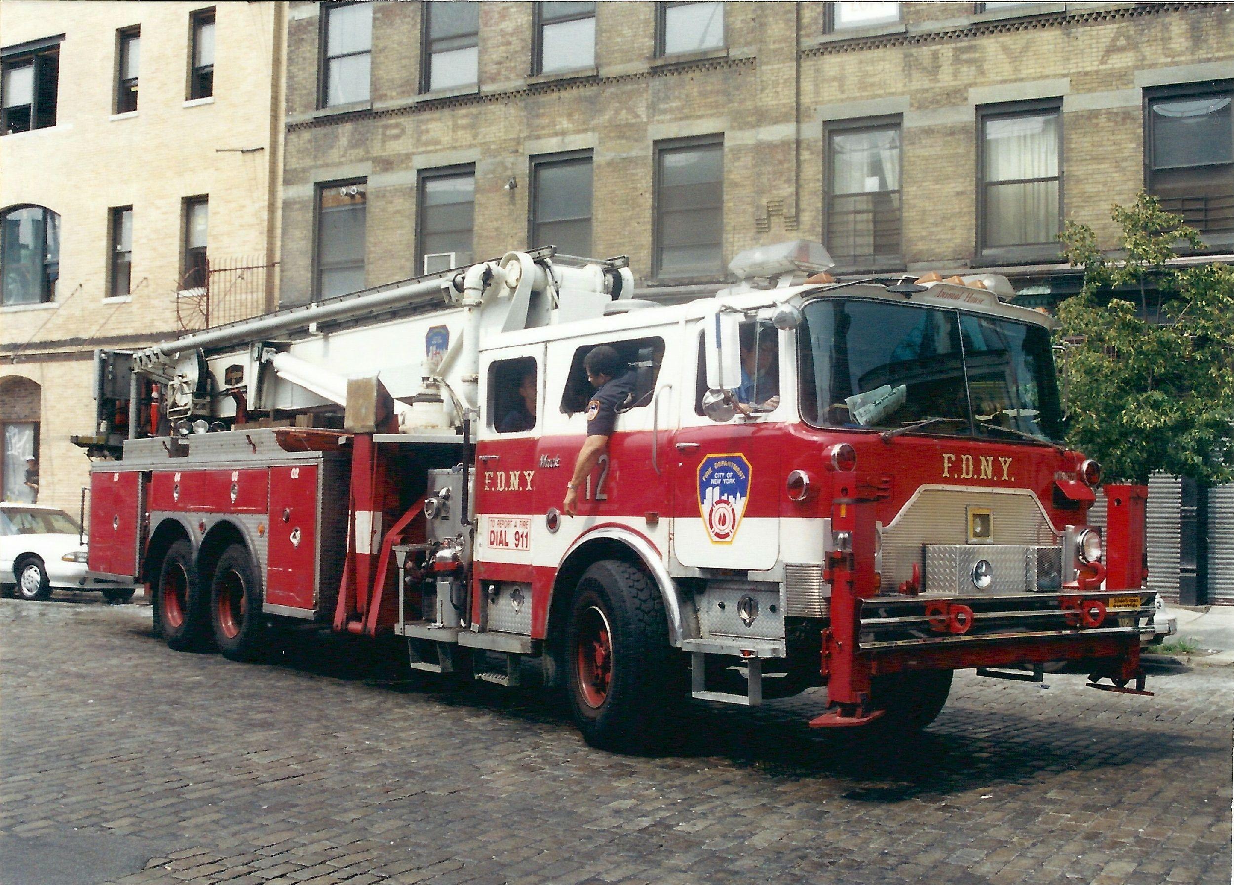f d n y mack cf tower ladder 12 retired firefighting civil