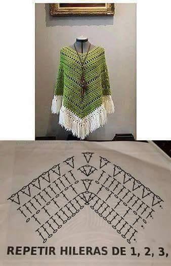 Delicadezas en crochet Gabriela: Poncho crochet muy fácil   patrones ...