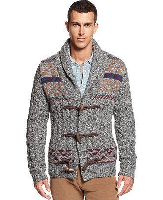Tommy Hilfiger Hudson Fair Isle Cardigan - Sweaters - Men - Macy's ...