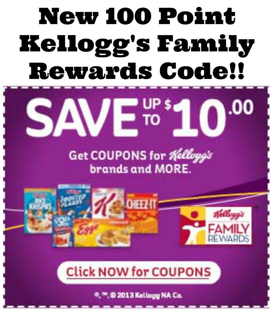 100 Free Kellogg S Family Rewards Points Use Points To Get Great