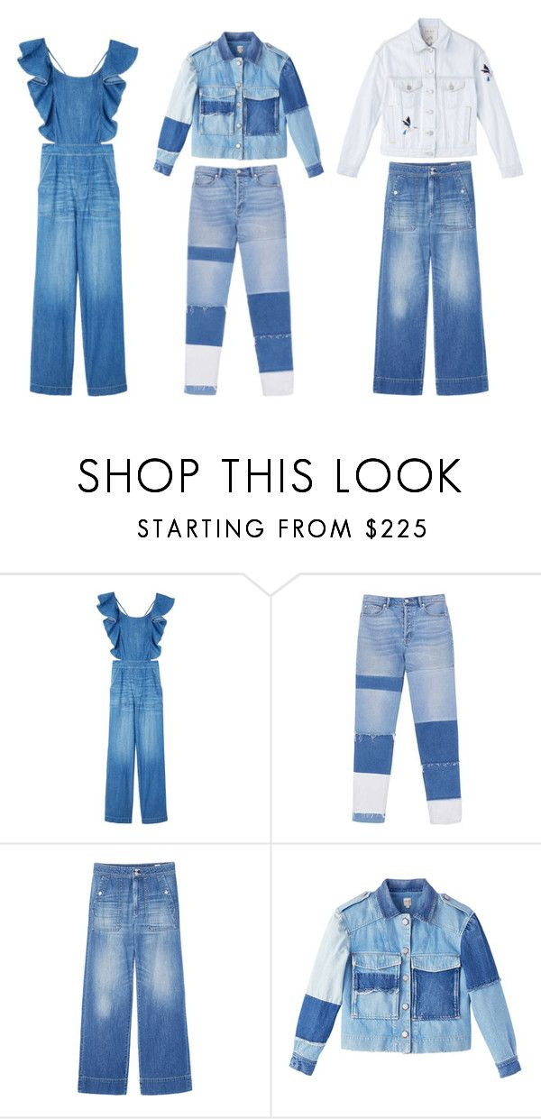 """""""Deconstructing Denim"""" by rebeccataylor ❤ liked on Polyvore"""