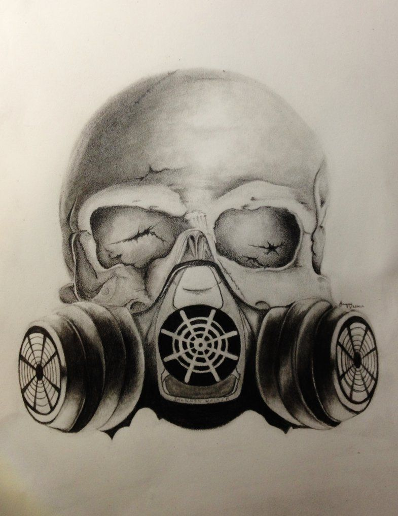 Images For Skull Gas Mask Drawings Mehr