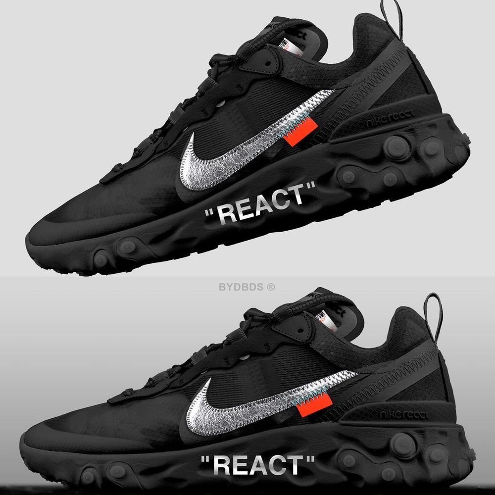 Nike React Element 87 (Black) #fashion #clothing #shoes