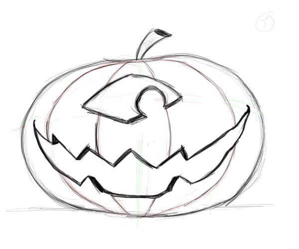 Drawing Pumpkin Faces Drawing Factory Pumpkin Faces Face Drawing Pumpkin Drawing