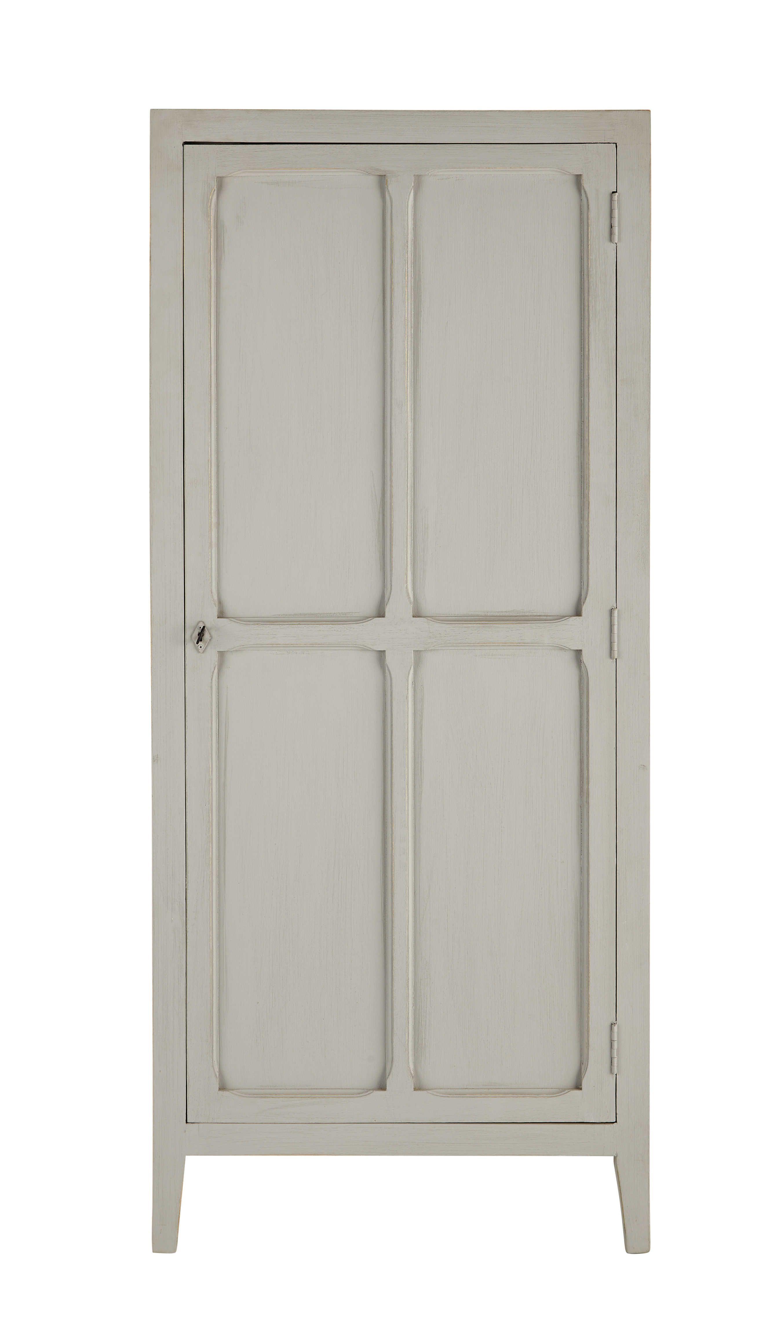 Schrank aus Mangoholz, B 75 cm, grau | Schränkchen, Grau und ...