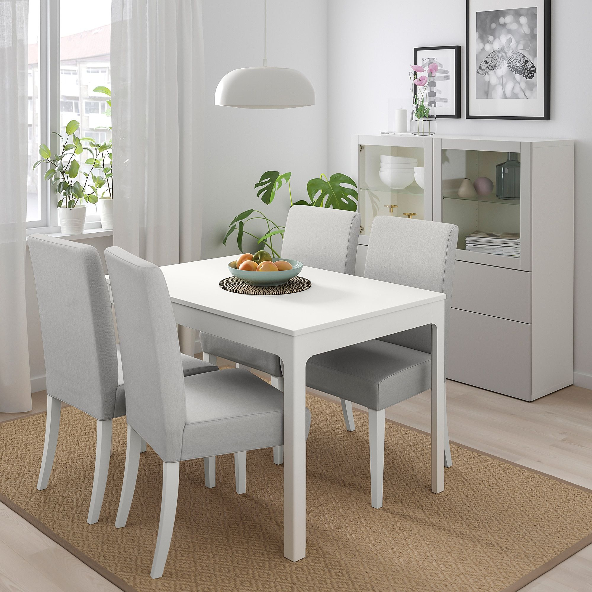 Ikea Ekedalen Henriksdal Table Et 4 Chaises Blanc Orrsta Gris White Dining Table Table And Chairs Dining Room Small