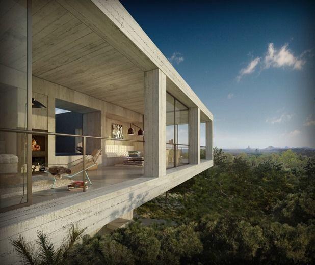 solo house by pezo von ellrichshausen architects ARCHITECTURE - Construire Une Maison De 200m2