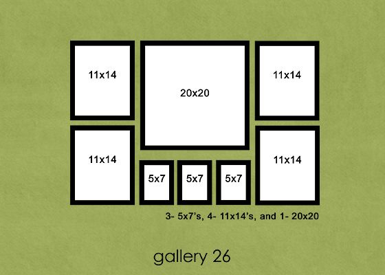 This Website Has Dozens Of Ways To Arrange Pictures And Includes Frame Dimensions Family Room Walls Photo Arrangement Picture Arrangements