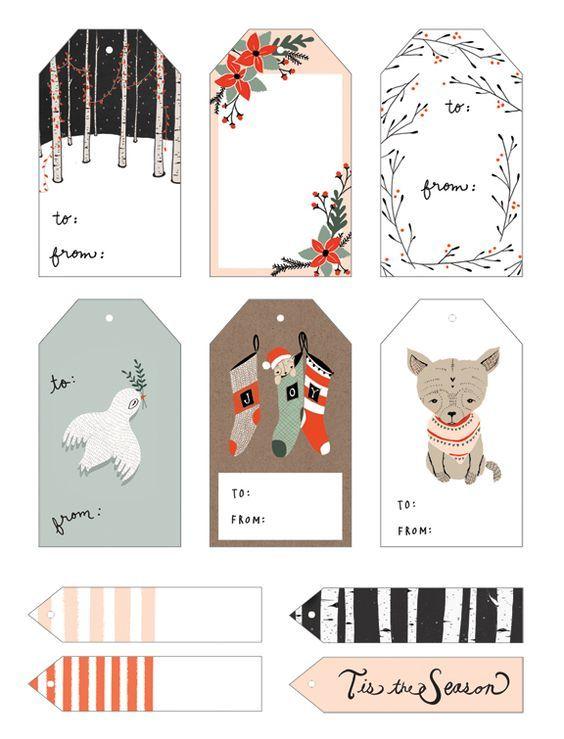Etiquetas gratis para los regalos de Navidad, ¡descárgalas ...