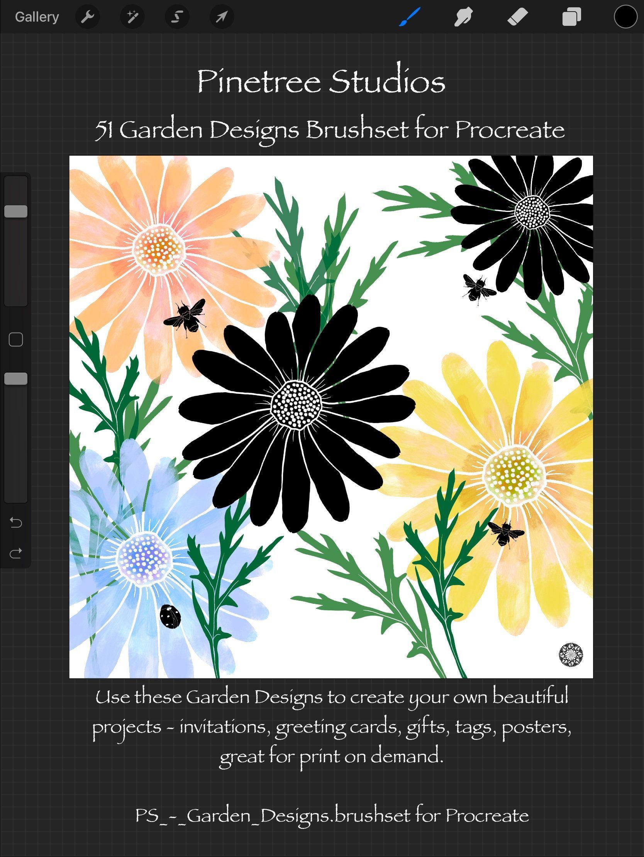 Procreate Garden Designs ~ Stamps (.brushset) Designed for ...