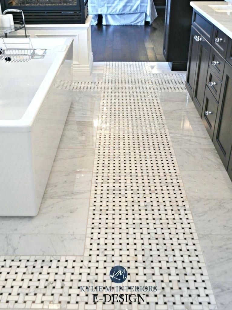 Basketweave Tile Bathroom Bathroom Marble Mosaic Tile On Floor With