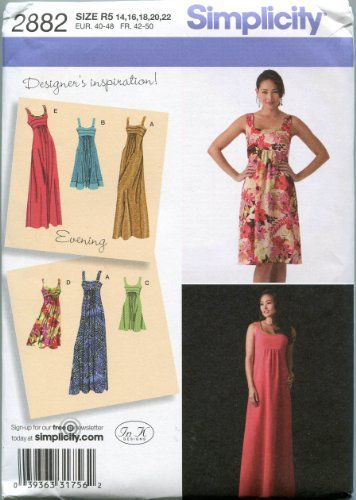 Simplicity Sewing Pattern 2882 Misses\'/Miss Petite Plus S ...