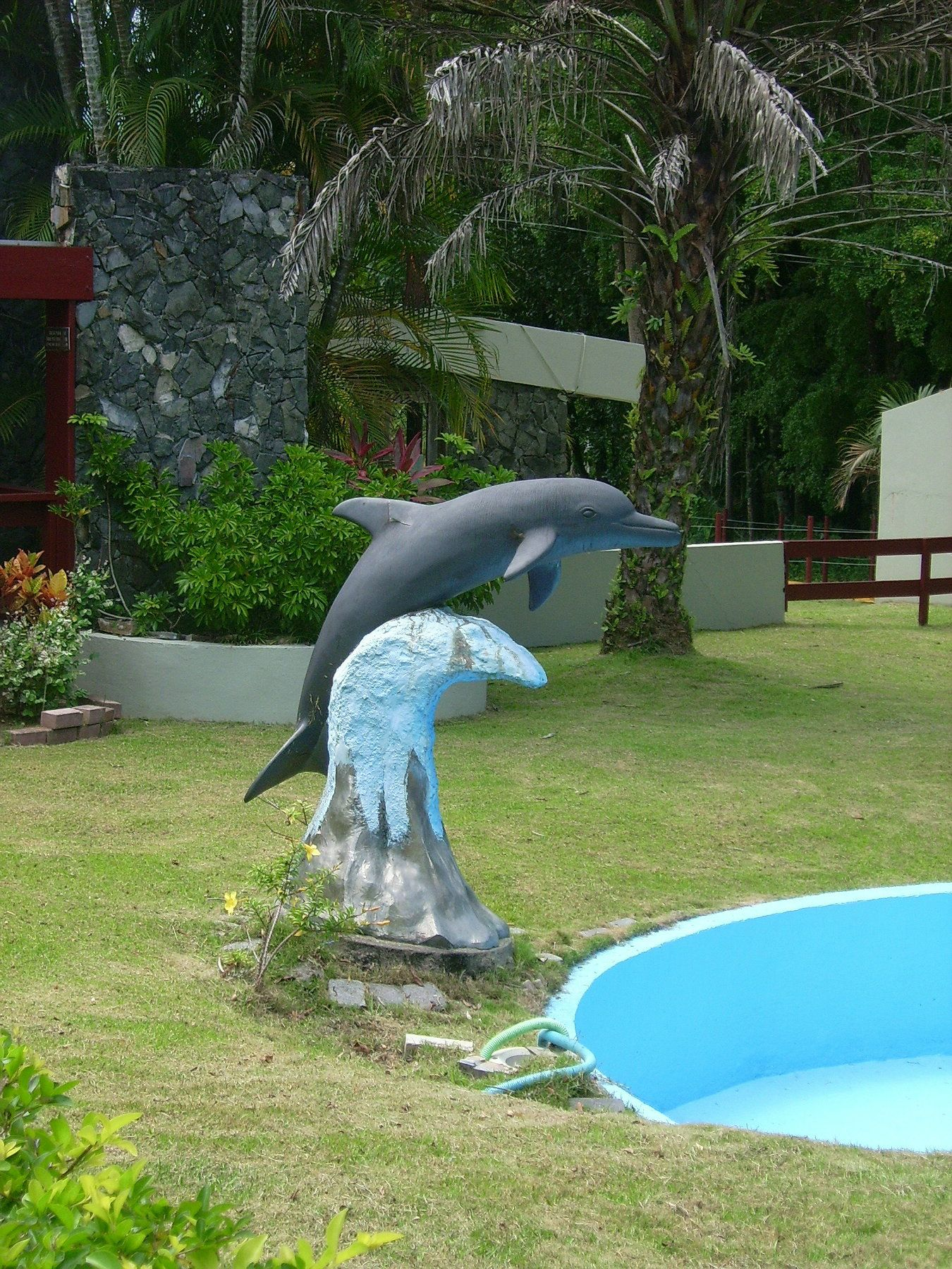 A Dolphin Statue.