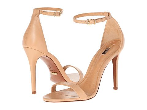 Nude high heeled strappy sandals / Schutz Cadey-Lee Lightwood