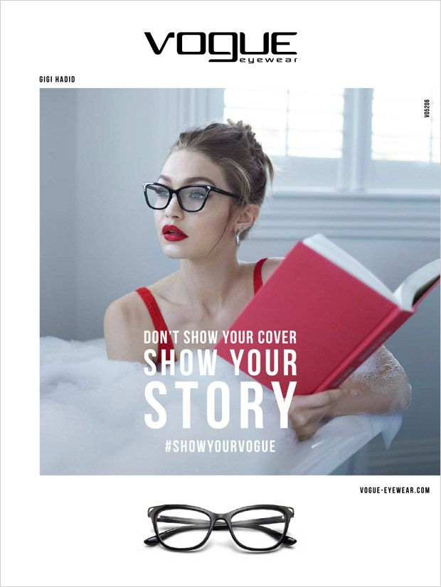 567818675a Gigi Hadid is the Face of Vogue Eyewear Special Collection