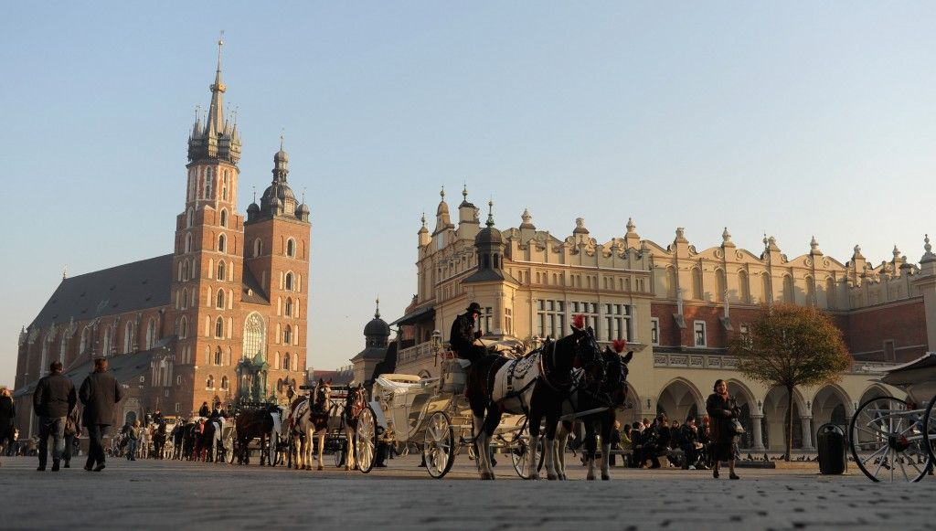 A general view of Main Market Square on November 7, 2011 in Krakow, Poland. (Photo by Michael Regan/Getty Images)