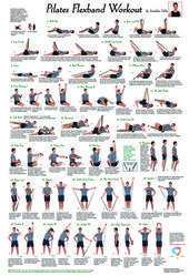 Color poster with a complete training of 27 different Pilat ... - # one ... -  Color poster with a c...