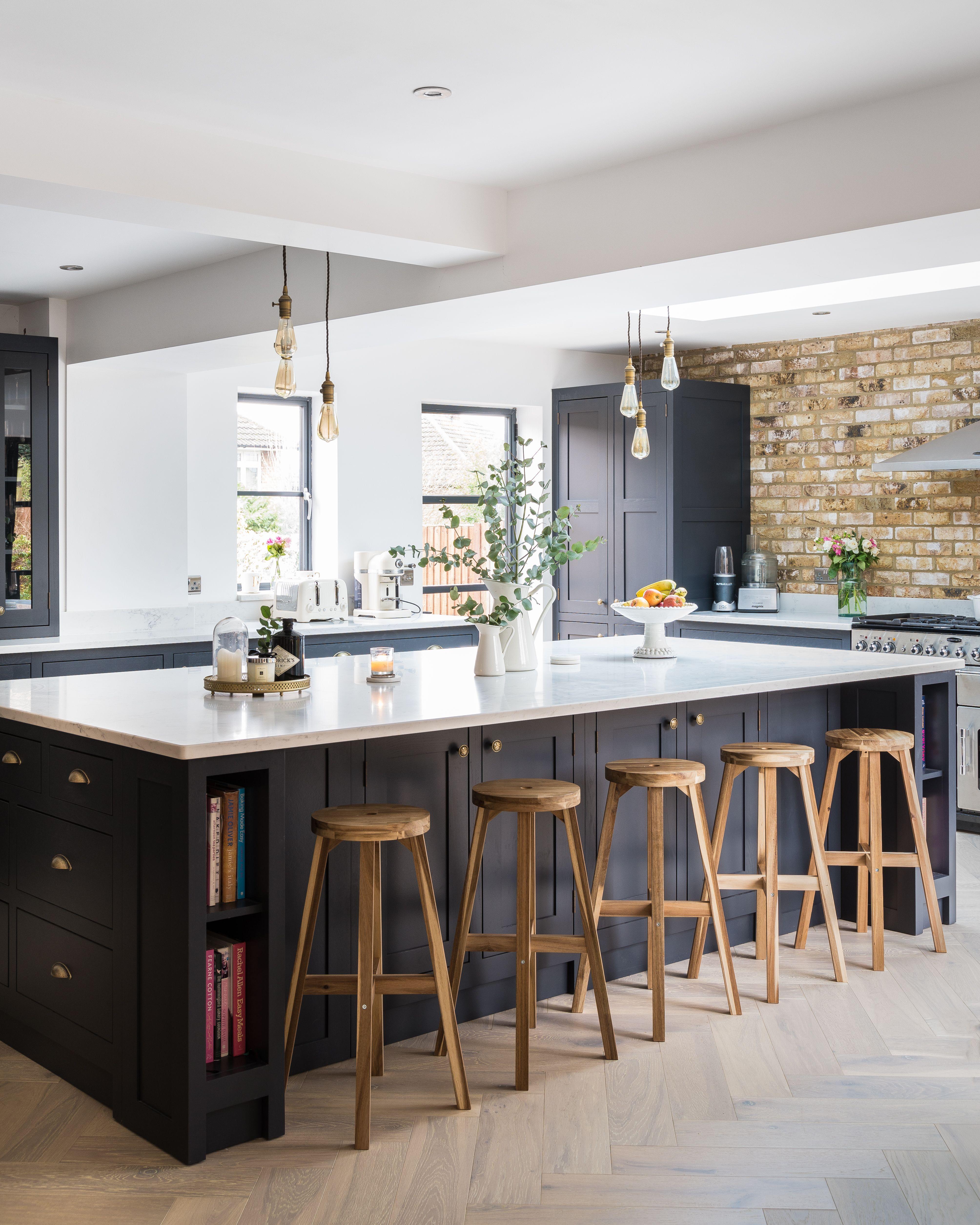 Industrial Style Shaker Kitchen Large Kitchen Design Open