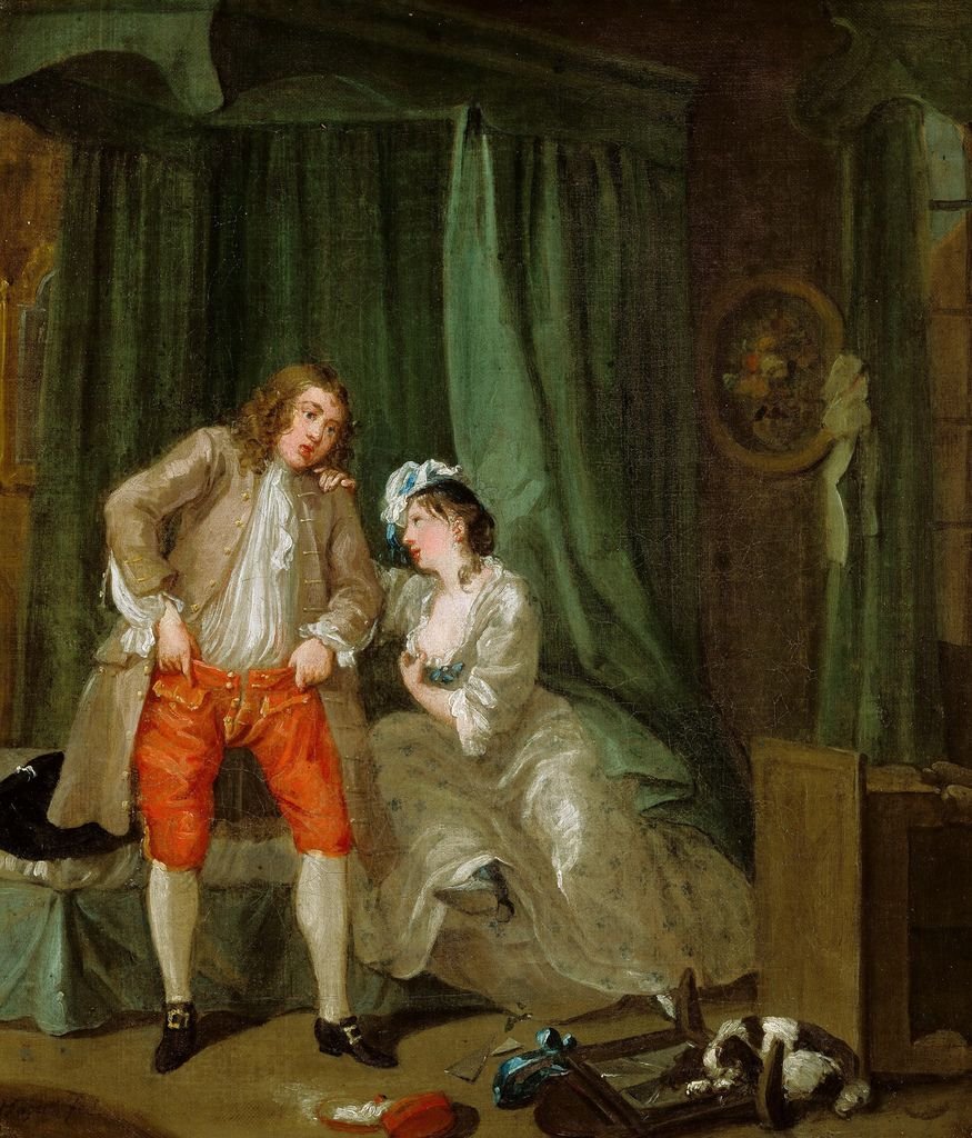 William Hogarth After The Seduction 1731 Pinturas Arte