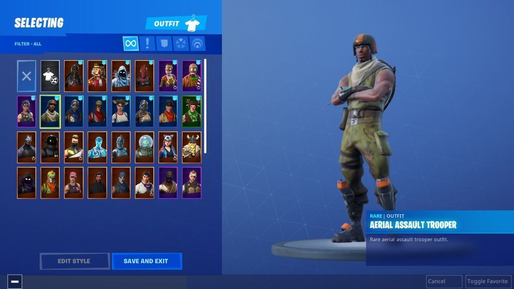 Fortnite Rare Account With Black Knight Aerial Assault Trooper Pc