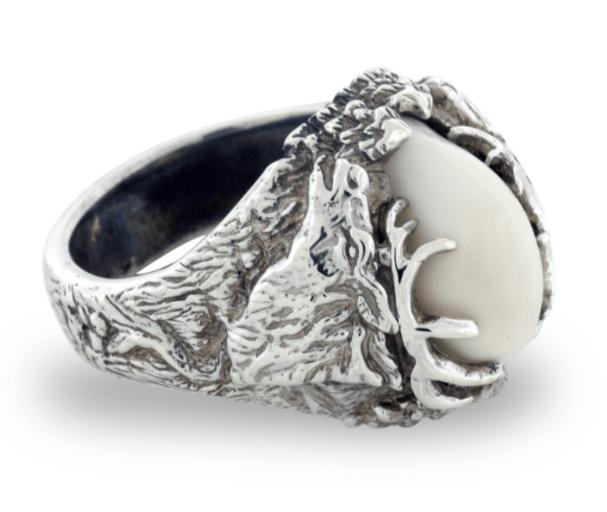 Elk Ivory Wedding Rings | Wedding Rings | Pinterest | Elk ivory ...