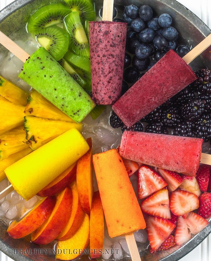 Food Rainbow Popsicles (No Sugar Added!) Made with Natural Sugar-Free Sweeteners (Stevia, Erythritol) | Healthy Indulgences