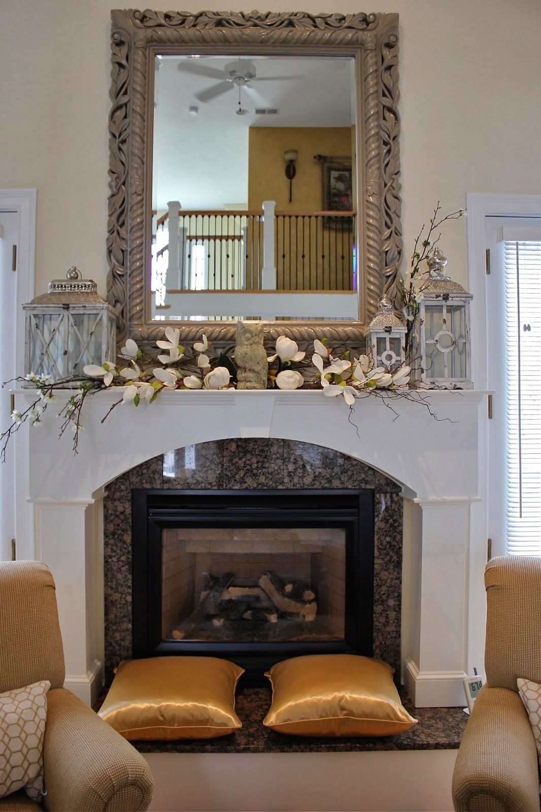 pier one fireplace decor on styling a mantle with lanterns and florals easter fireplace mantel decor fireplace mantel decor fireplace mantle decor fireplace mantel decor