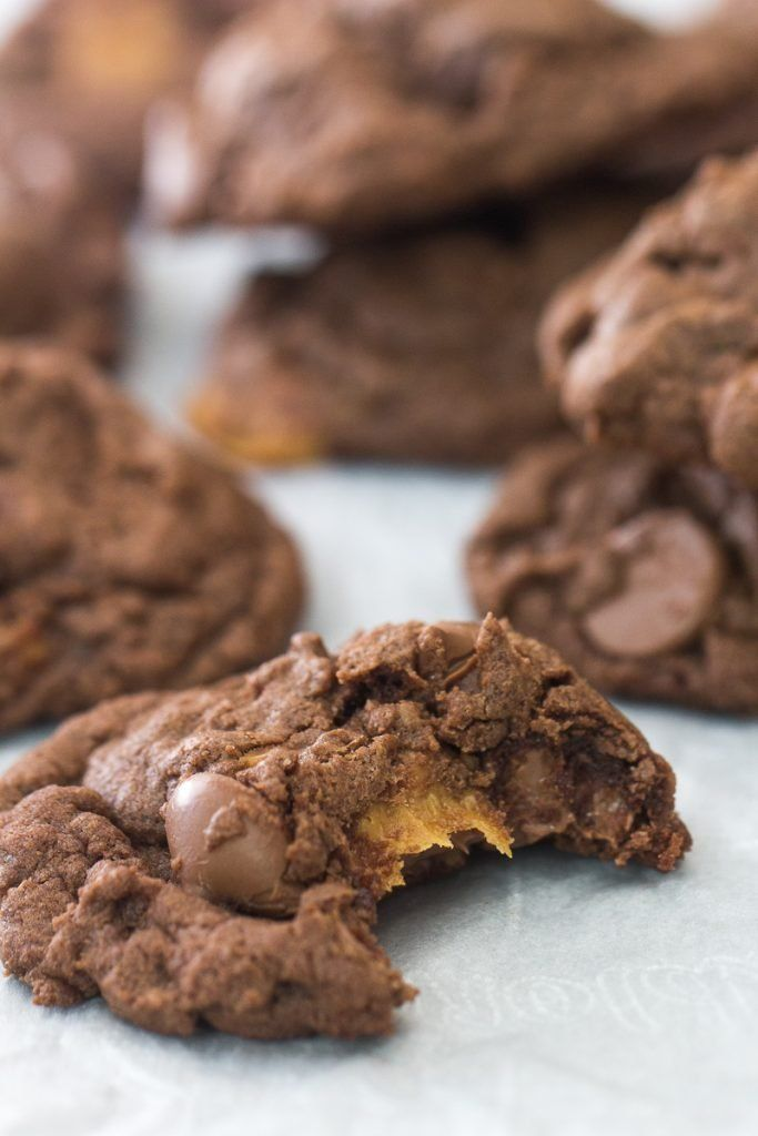 Chocolate Caramel Nutella Cookies Chocolate Caramel Nutella Cookies
