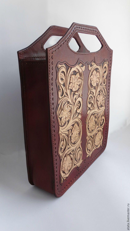 4fc0e30b866a Купить сумка - коричневый, орнамент, тиснение по коже, женская сумка,  работы дмитрий бабушкина, sheridan