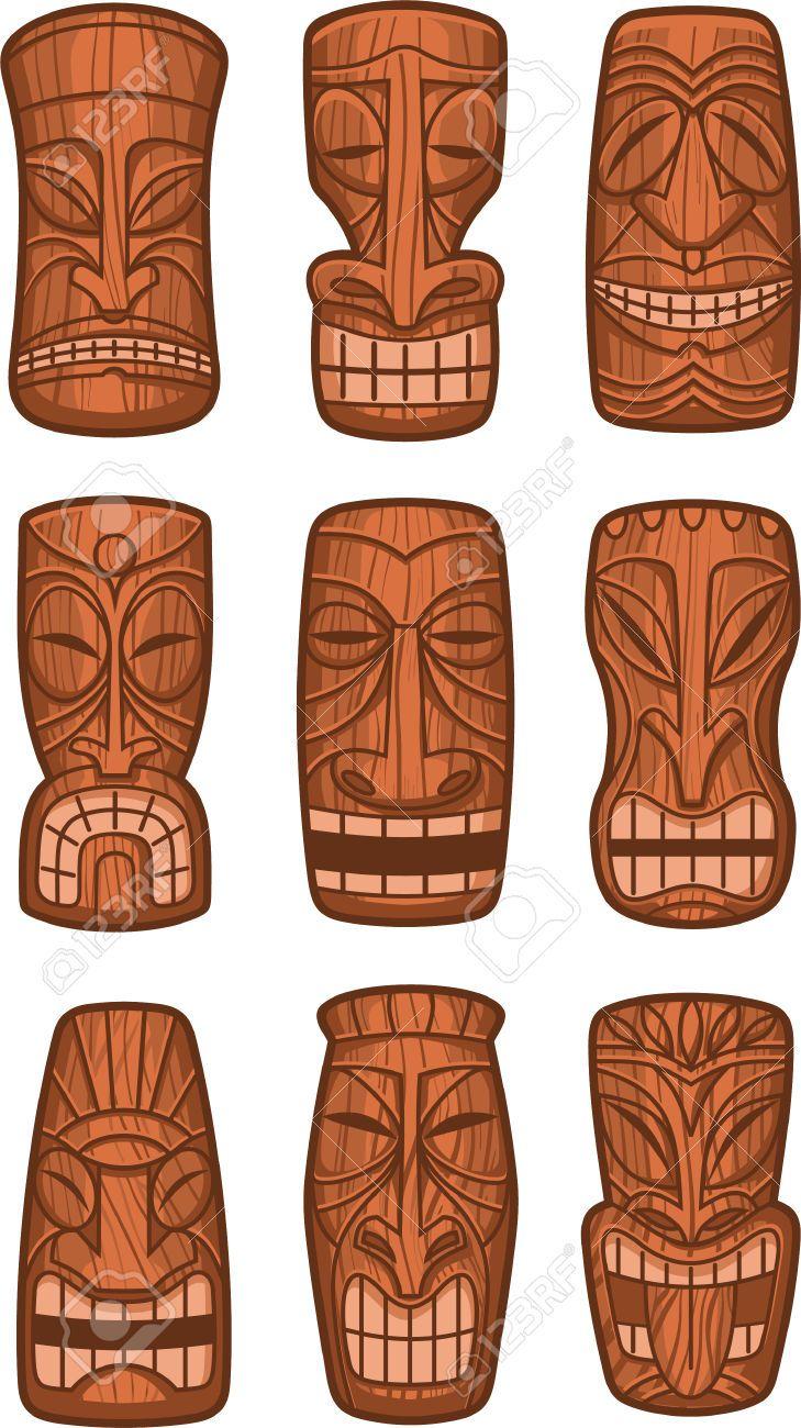 Tiki Sculpture Recherche Google Hawaiian Love Tiki