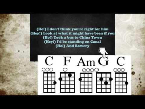Hey Ho Uke With Chord Guide Youtube Ukuleles Pinterest