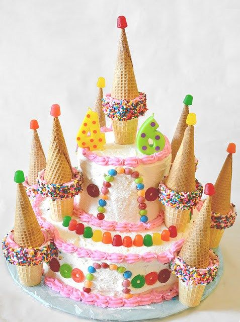 Candy Castle Cake Easy Decorating