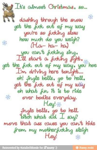 i dont hate christmas or anything like that - Dirty Christmas Songs