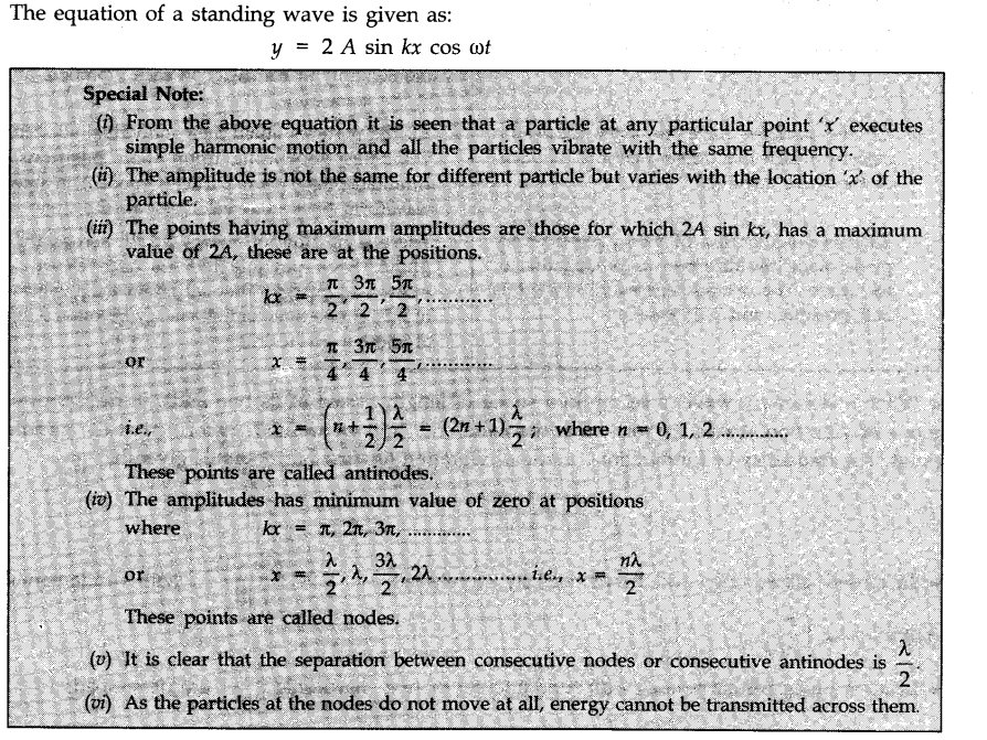 Waves Cbse Notes For Class 11 Physics Learn Cbse Waves Cbsenotesforclass11physics Physics Longitudinal Wave Angular Frequency
