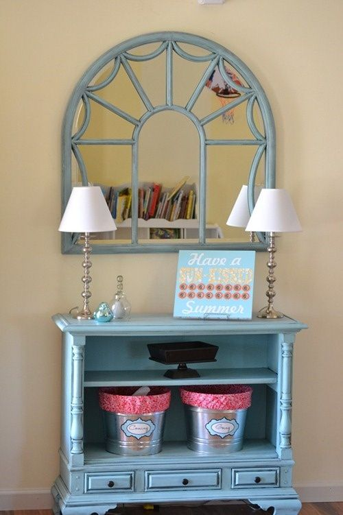 old console tv repurpose i bet i could use something like this in my entryway