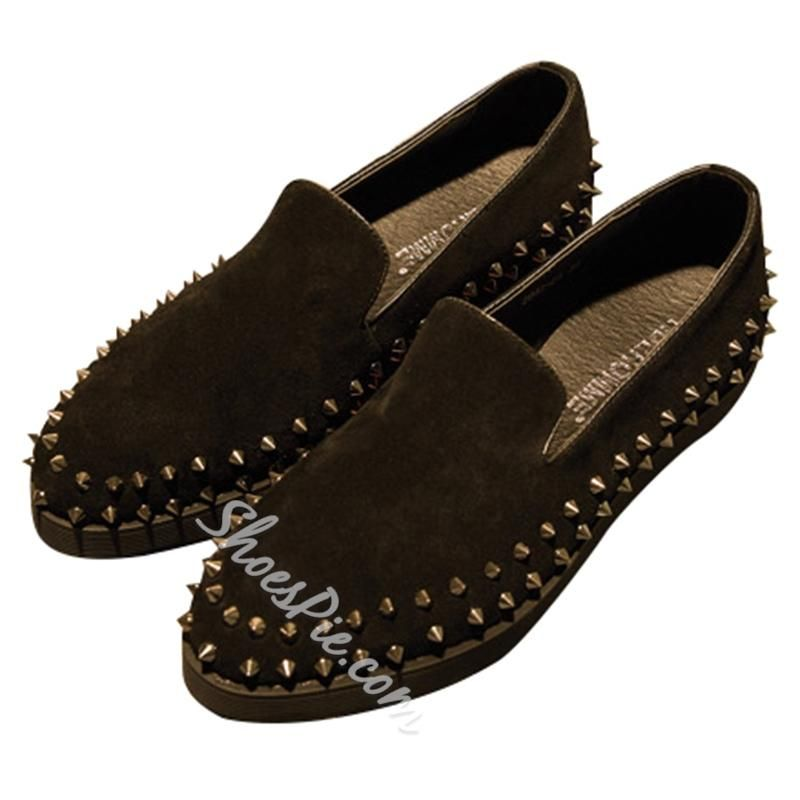 fa00eeabc03 Shoespie - Shoespie Shoespie Unique Spikes Trimed Mens Loafers - AdoreWe.com