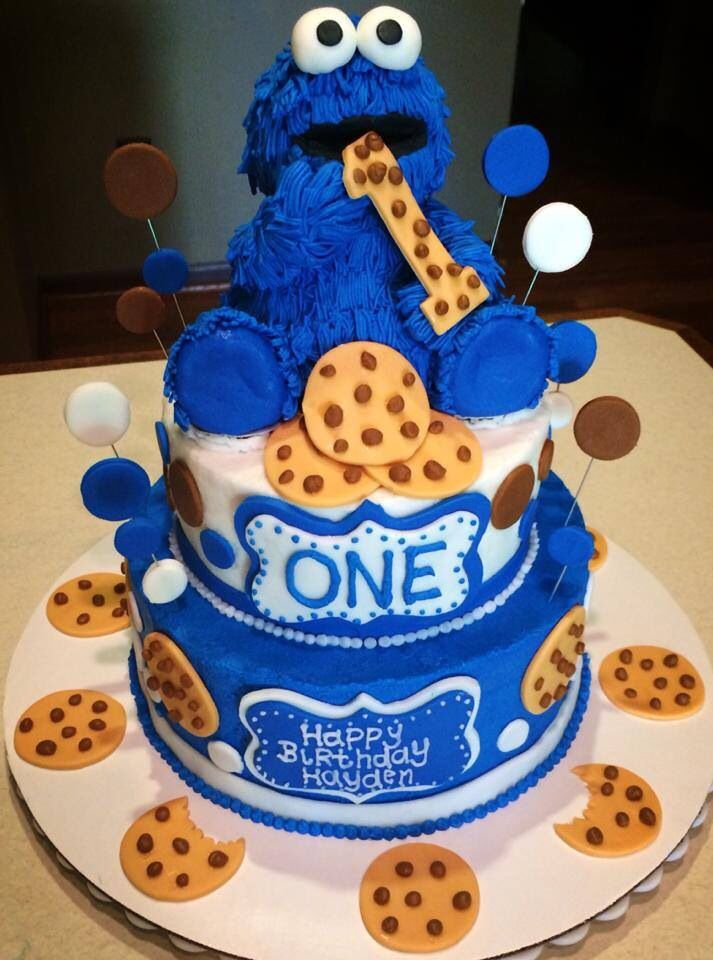 Surprising Cookie Monster Cake With Images Cookie Monster Birthday Party Funny Birthday Cards Online Elaedamsfinfo
