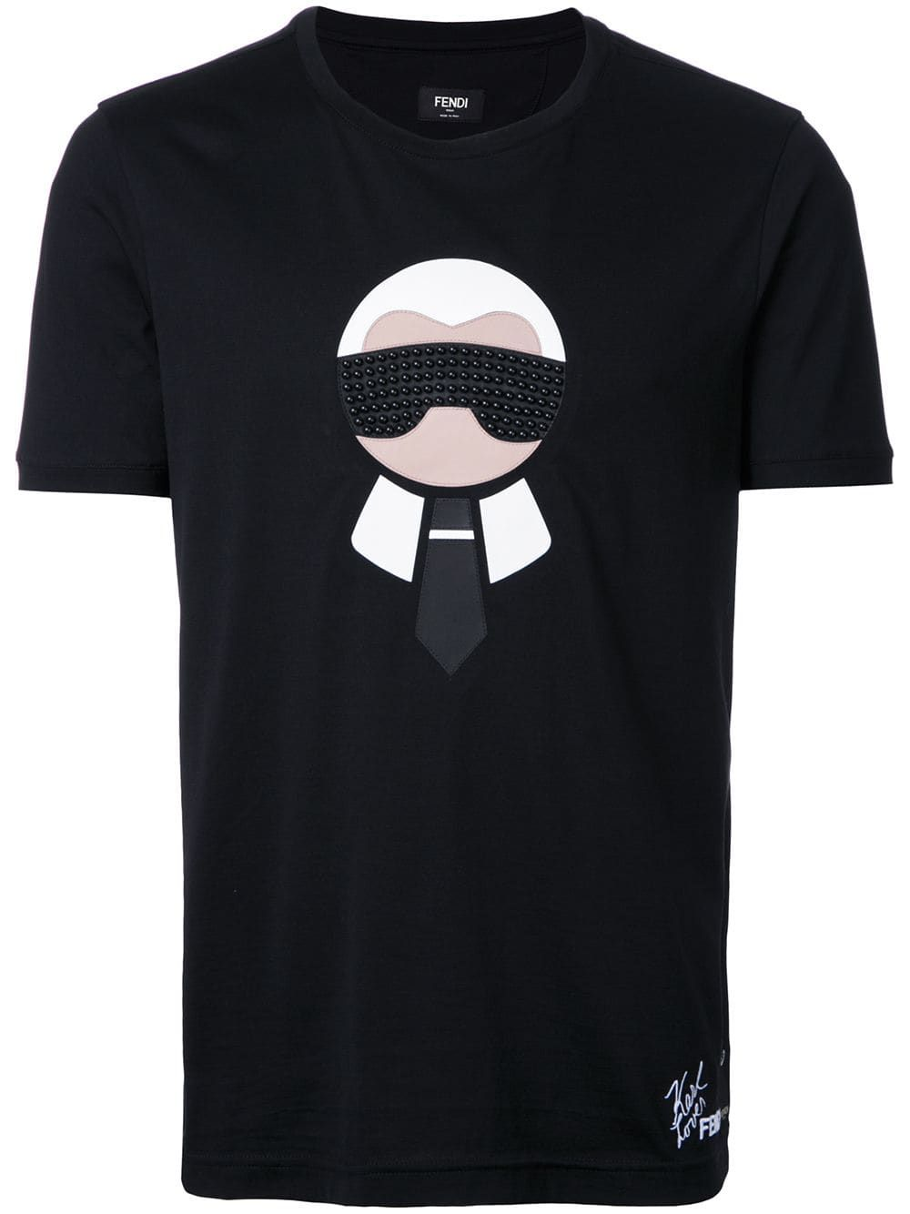 09096cd0 Fendi 'Karl Loves Fendi' T-shirt - Black | Products in 2019 | Fendi ...