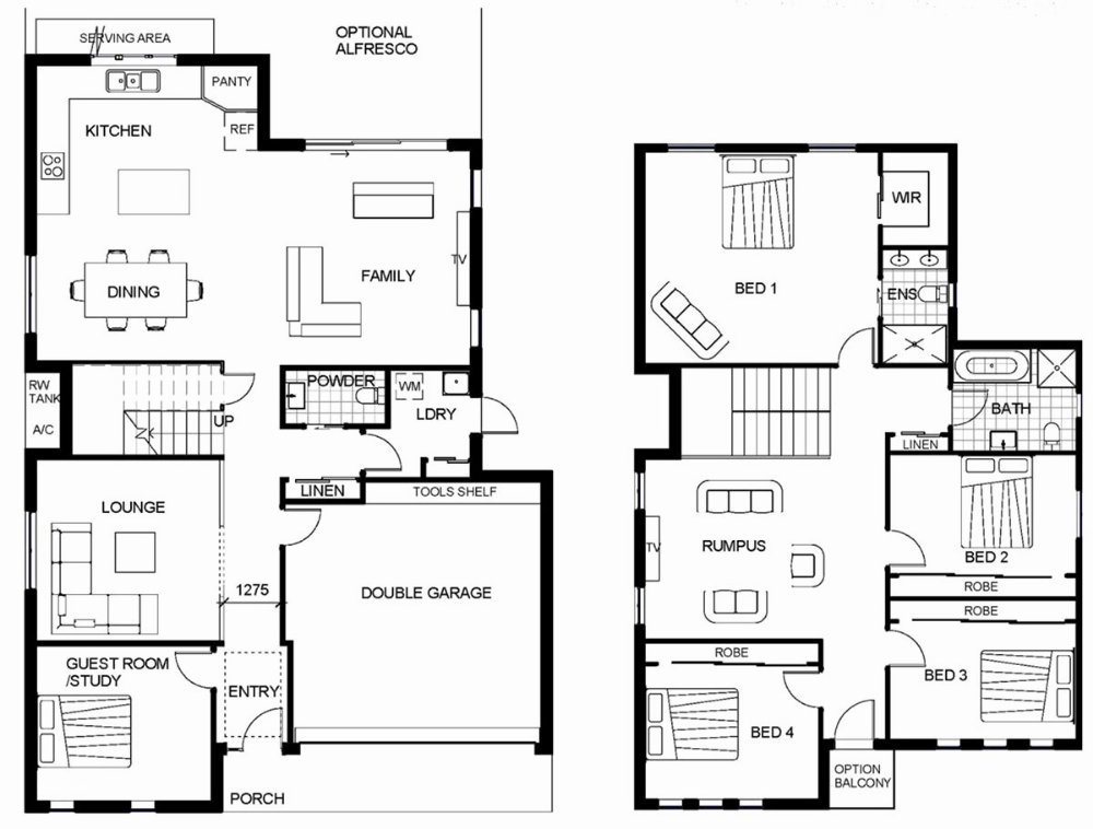 Two Story House Floor Plans Beautiful 1 1 2 Story House Plans Unique Bungalow Floor Plans Floor Plan Design Two Story House Plans