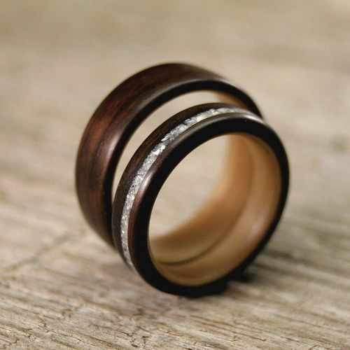 wood wedding rings - Wood Wedding Ring