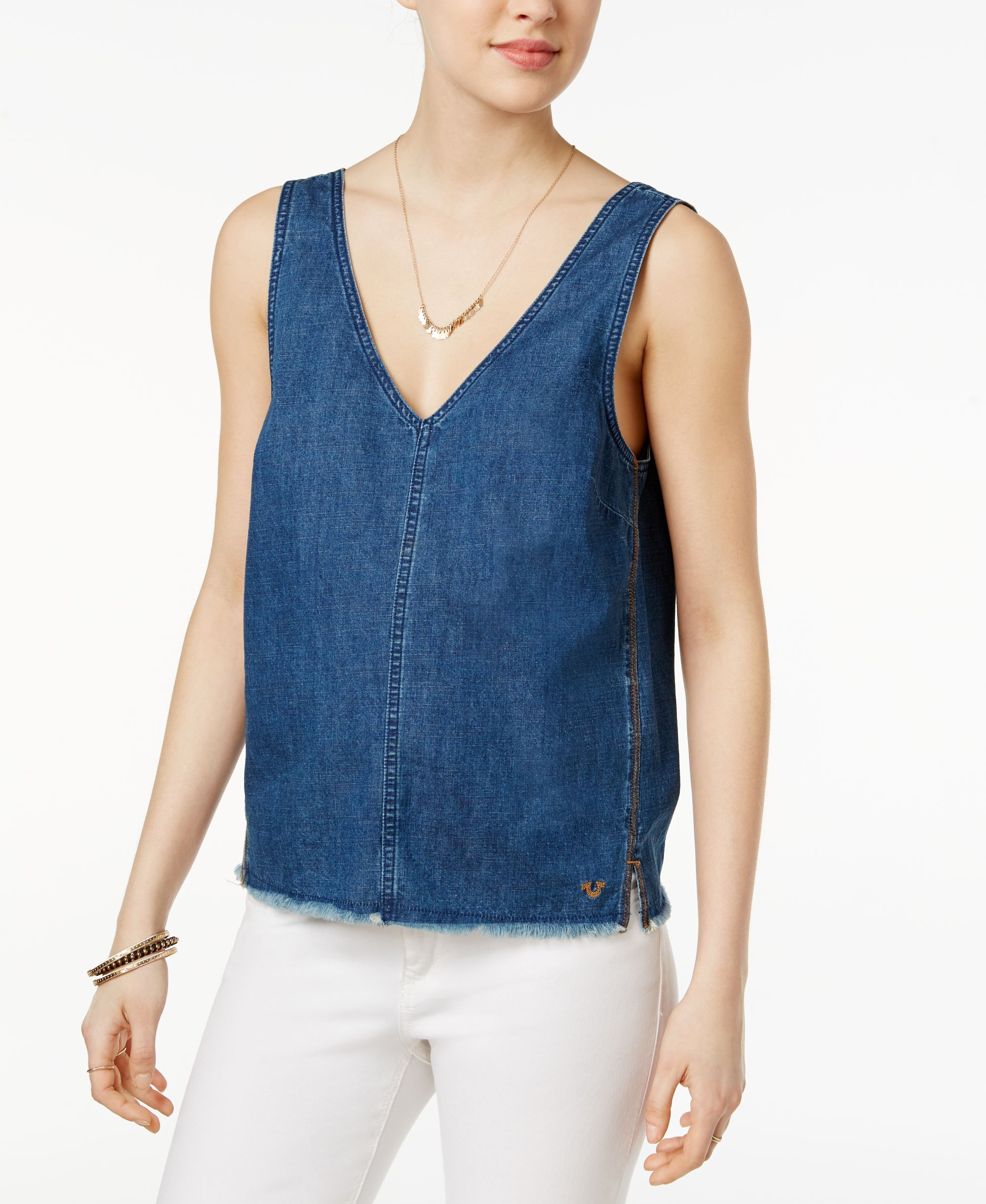 44d7ad1a1c82c True Religion Cotton Denim Tank Top