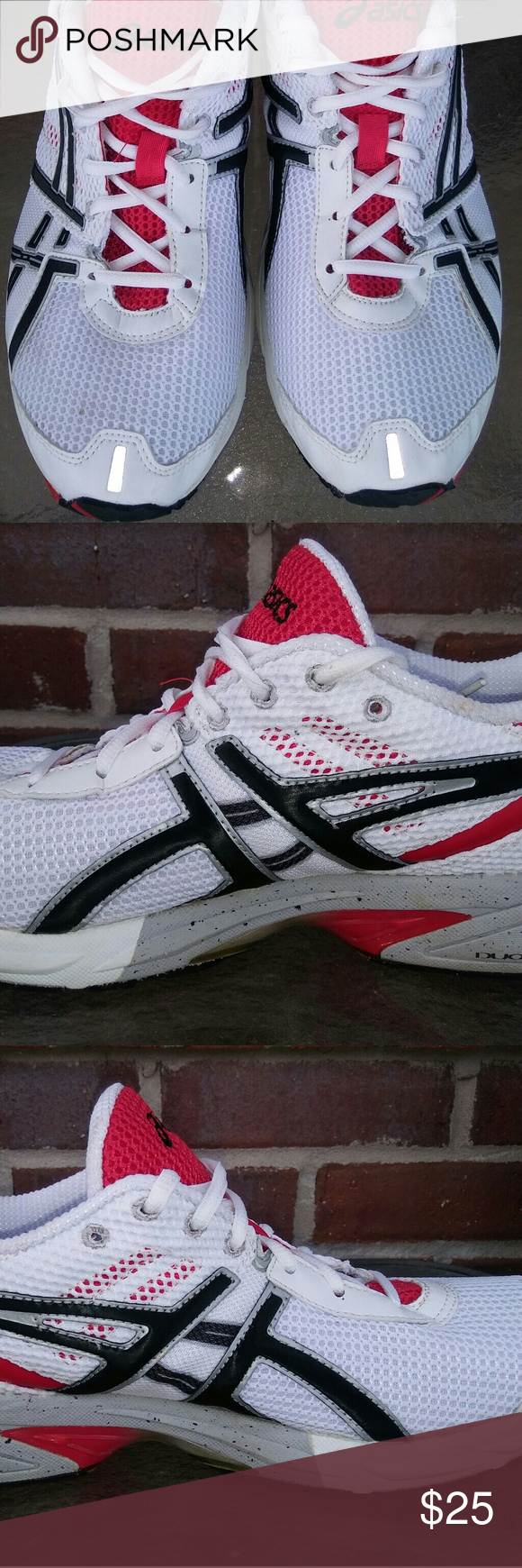 the latest 04265 40c0b Asics Gel DS Trainer White/Red 12 Sz 12.5 Asics Gel DS ...