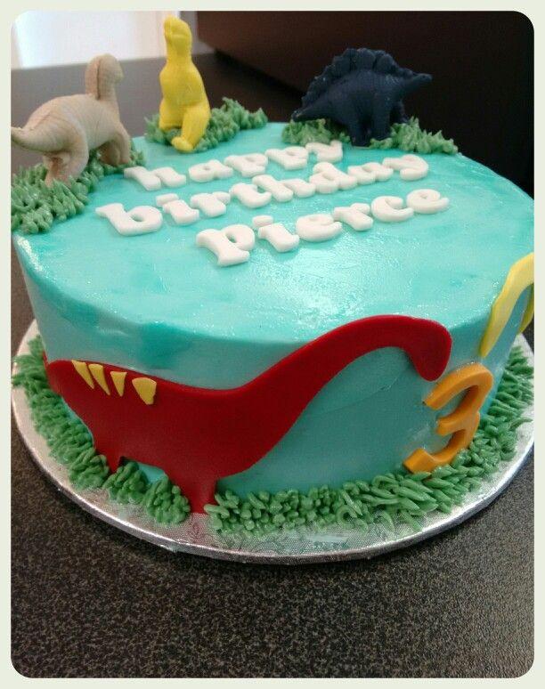 Chocolate dino cake for little man!