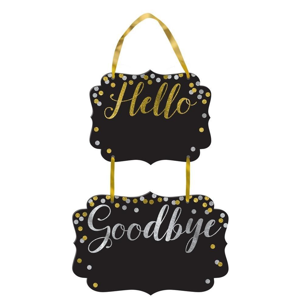 New Years Eve Hello Goodbye Chalkboard 4 Sign Set NYE ...