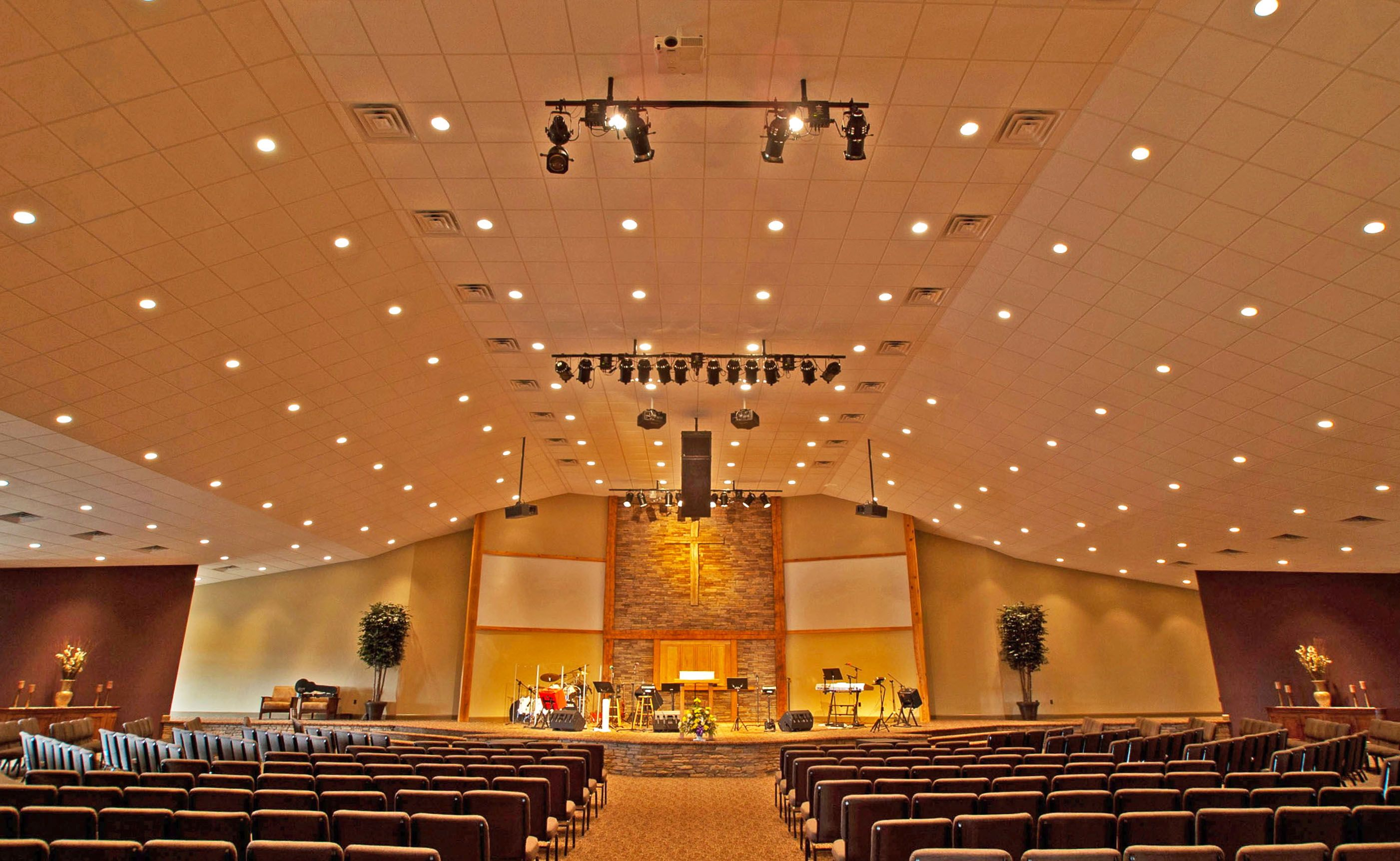 church sanctuary design worxaudio technologies deployed