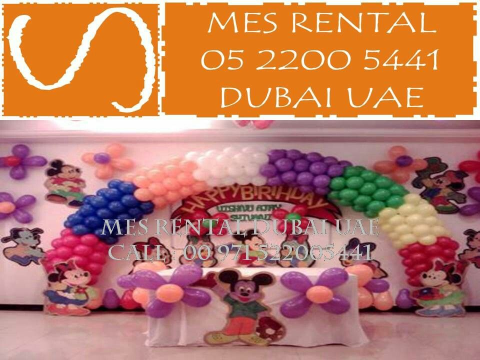 Birthday party Decor by MES RENTAL Balloon Decoration services in